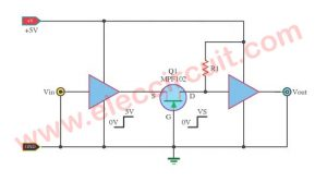 The Level Voltage of Logic Changer by a JFET