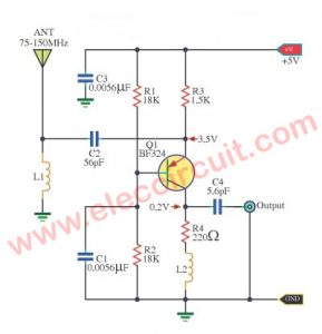 Simple Active antenna in SW/MW/FM bands - ElecCircuit on