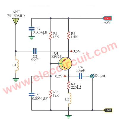 Wide band high frequency amplifier