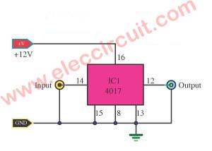 1 Hz Timebase  circuit using IC-4017