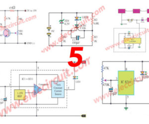 Five Battery low voltage alarm indicator circuits