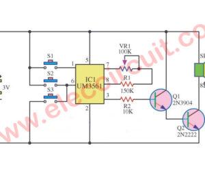 Four siren sound generator circuit using  UM3561