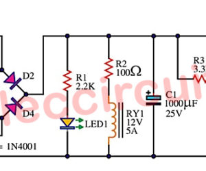 Cheap emergency light circuit using D313