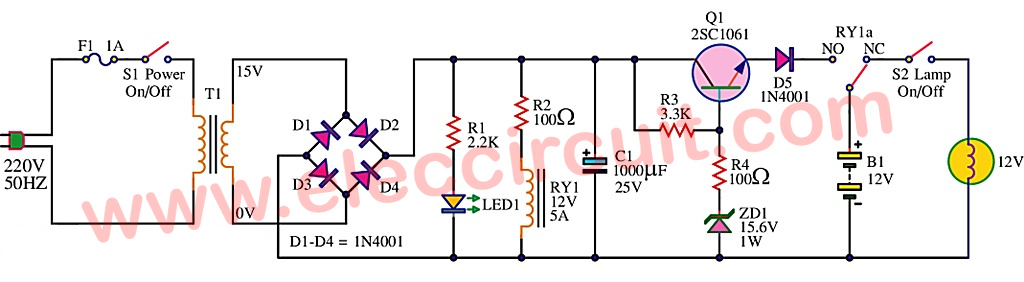 Increase Charging Rate Alternator C er 278385 additionally 12v Dc Wiring Diagram likewise Cheap Emergency Lights Using D313 as well Centerfielder Ii besides Wifi Lego Camera Robot. on voltage regulator wiring diagram