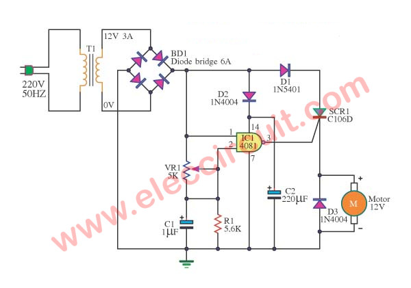 Scr Dc Motor Control Circuit Diagram on battery charger circuit using scr