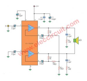 TDA2009 bridge amplifier BCL 18W