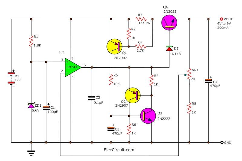 Power Supply 6V-9V for a calculater
