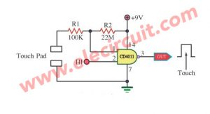 Standard Touch Switch by Gate of IC 4011