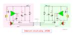 Intercom circuit using LM386
