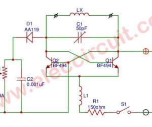 VHF Dip Meter circuit