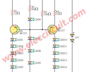 Add Beautiful Car brake light circuit using BC327
