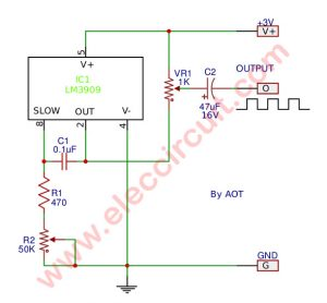 LM3909 Frequency generator | LED flasher circuit ideas