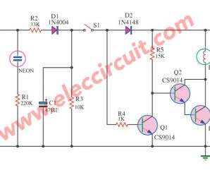 LED emergency light circuit without transformer