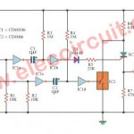 On-off SCR control circuit with logic gate IC