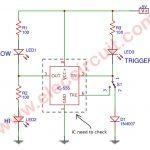 Simple 555 ICs Tester Circuit