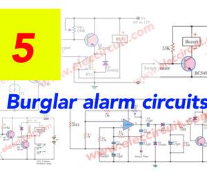 9 Burglar alarm circuits ideas