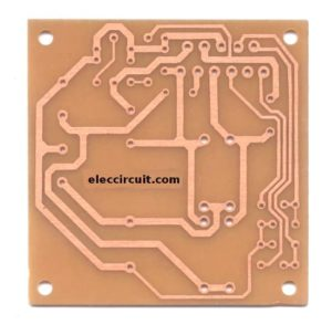 PCB  of DC to DC converter using TDA2004