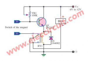 Burglar Alarm Circuit using 2N2222