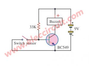 Burglar Alarm model the circuit closes