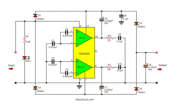 12V to 24V DC converter high current