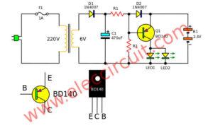 Mini emergency light circuits