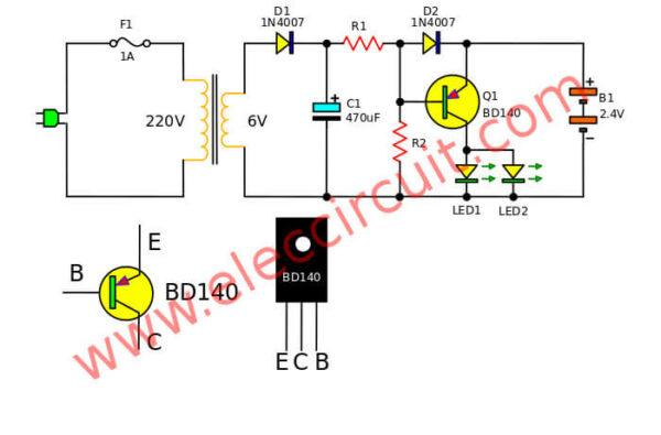 Mini emergency light circuits ndash Electronic projects circuits