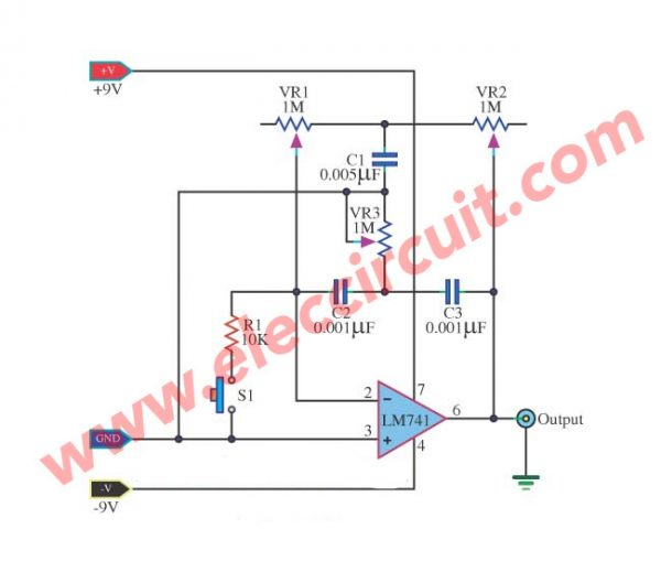 Simple Electronic Bell Generator using LM741