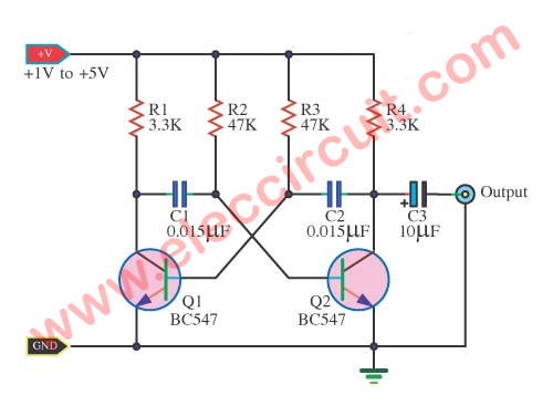 Signal injector circuit with PCB, easily build - ElecCircuit.com