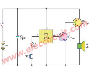 Sound bell circuit with ic 8021