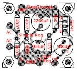 Component-layout of Zener diode regulator