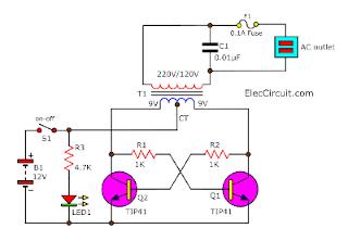 Micro Inverter using TIP41