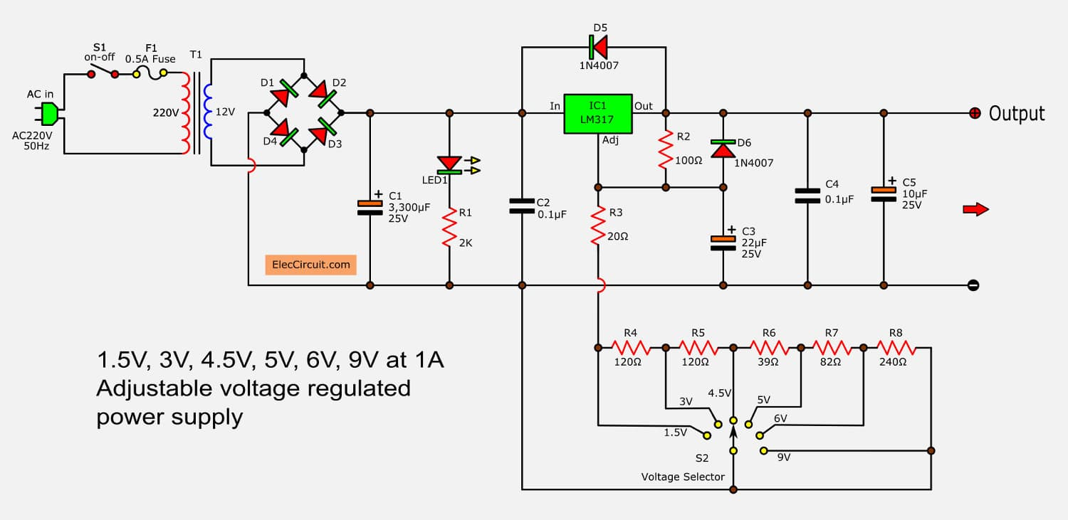 Rotary Switch Dc See Ac To Dc Converter Circuit Below ... on