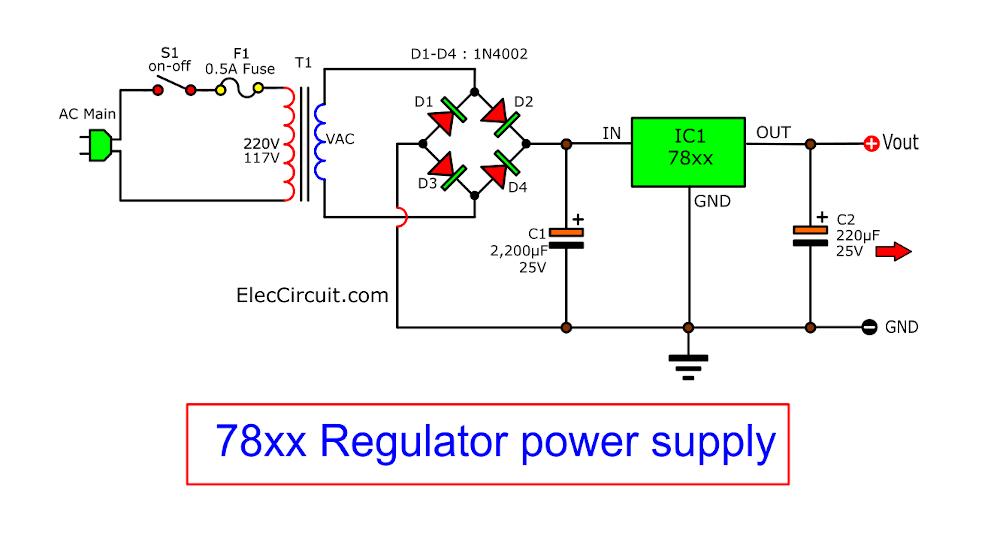 Fixed Regulator 5V,6V,9V,10V,12V 1A By IC 7805,7806,7809,7812