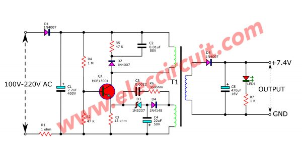 Cheap 6V battery charger circuit using mobile-charger