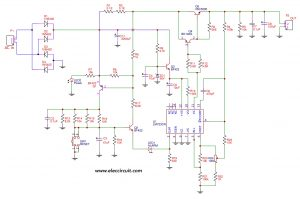 Schematic of 0-50V, 3A variable DC power supply