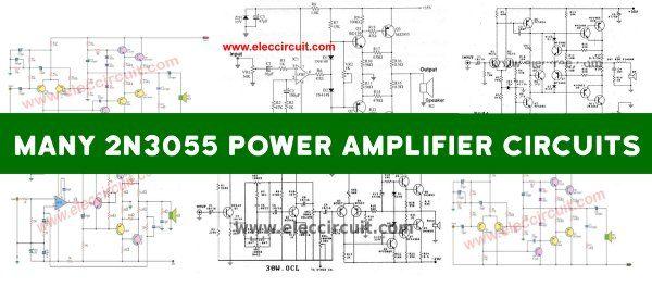 2N3055 Power Amplifier Circuit