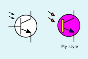 Phototransistor Circuit Symbol