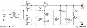 24V 2A power supply circuit