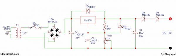 0 12v variable power supply at 3a