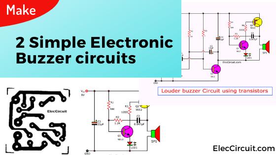 Make Simple Electronic Buzzer circuit