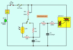 automatic Day light dimmer circuit