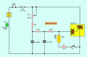 automatic night light dimmer circuit
