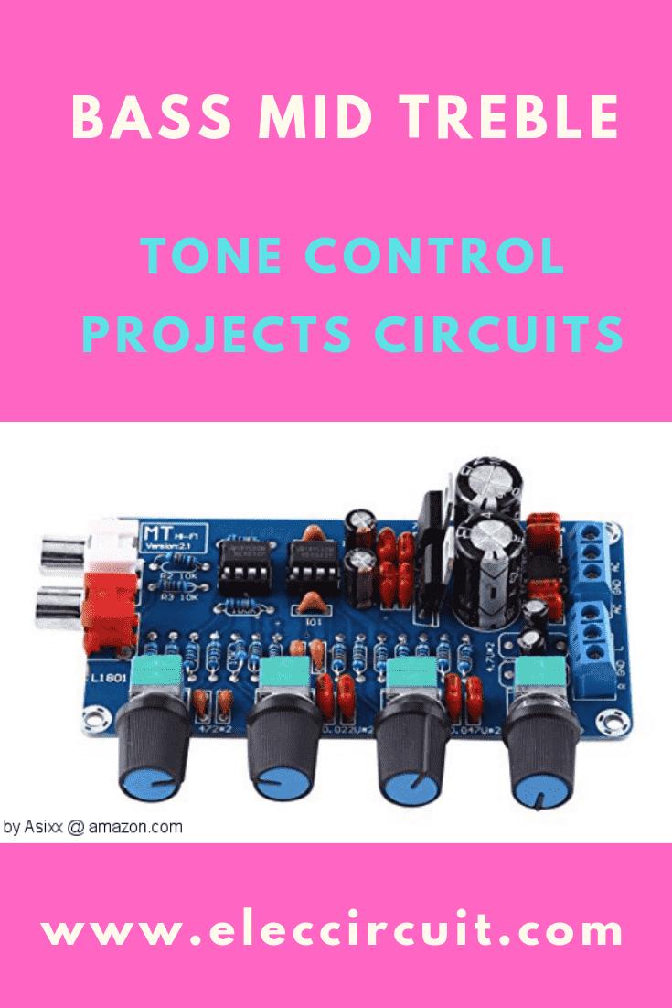 3 Tone control circuits using op amp NE5532