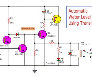 Automatic water level controller – 2 circuits choice