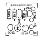 component layout transistor simple buzzer