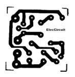 Copper PCB layout transistor simple buzzer