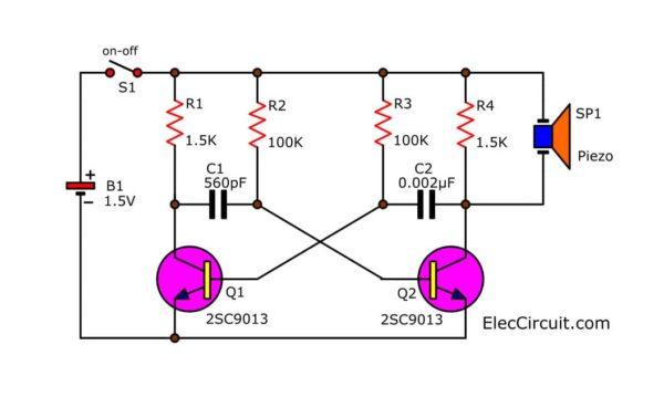 simple mosquito repellent circuit