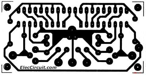 PCB layout KA2284 Stereo audio level indicator