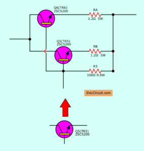 Parallel power transistor to increase current