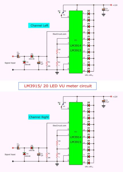 electronic-vu-meter-by-lm3914-lm3915-circuit-diagram